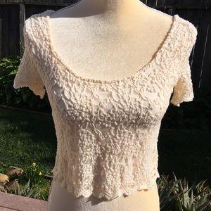 Mind Code • Lace Crop Top